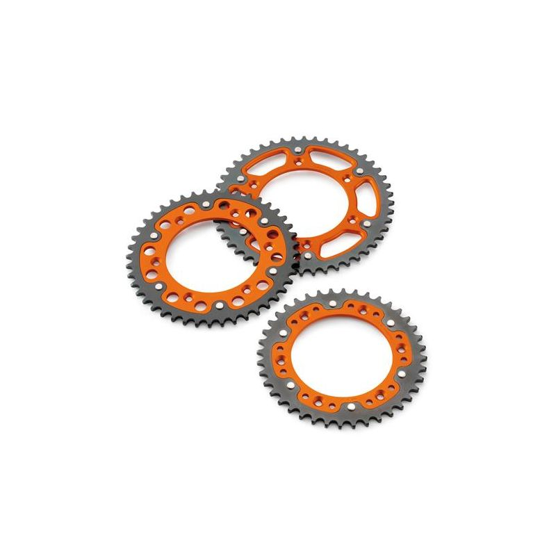 "COURONNE ALUMINIUM ORANGE PISTE ""SUPERSPROX STEALTH"" KTM SX/ EXC/ XC-W/ 690 DUKE/R / 690 ENDURO R 08-19/ 690 SMC R 08-19"