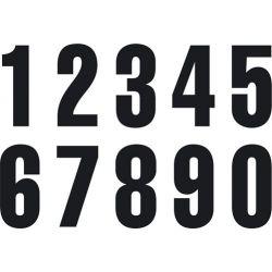 Numéro de Course Noir