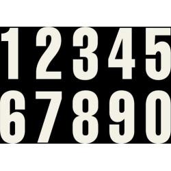 Numéros de Course Blanc