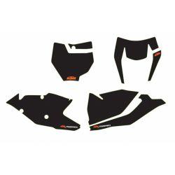 Kit autocollants de fond de plaque NOIR pour KTM SX/SX-F (16-18) et EXC/EXC-F (17-19)